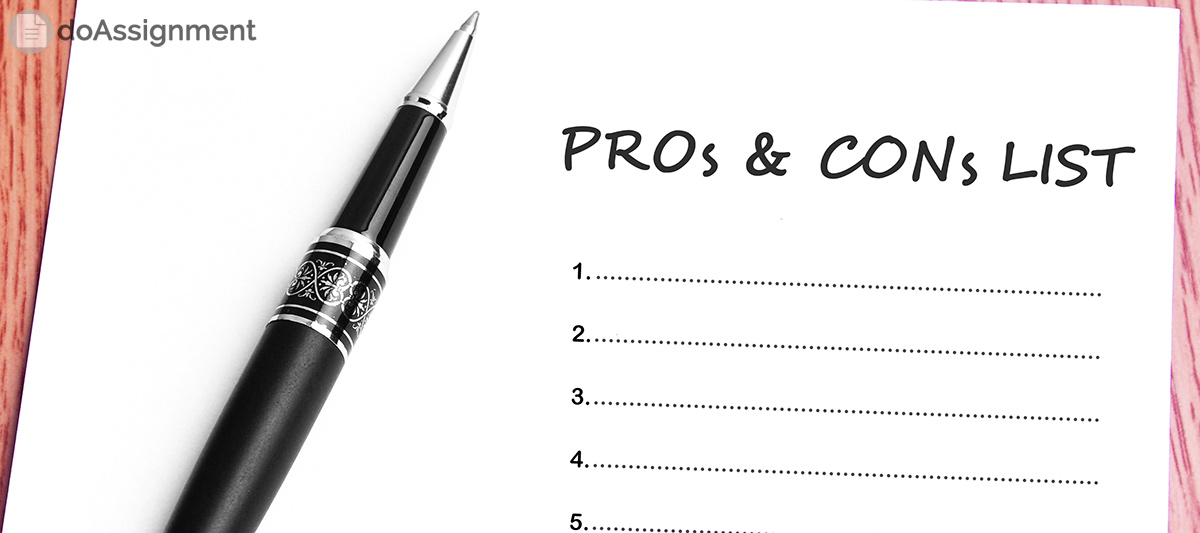 list of pros and cons